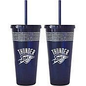 Boelter Oklahoma City Thunder Bling 22oz Straw Tumbler 2-Pack