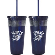 Boelter Oklahoma City Thunder Bling 22oz Straw Tumbler 2-Pack