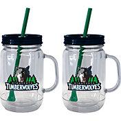 Boelter Minnesota Timberwolves 20oz Handled Straw Tumbler 2-Pack