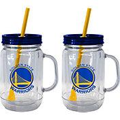 Boelter Golden State Warriors 20oz Handled Straw Tumbler 2-Pack