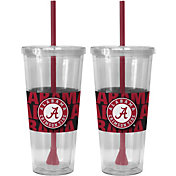 Boelter Alabama Crimson Tide Bold Sleeved 22oz Straw Tumbler 2-Pack