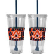 Boelter Auburn Tigers Bold Sleeved 22oz Straw Tumbler 2-Pack