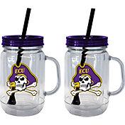 Boelter East Carolina Pirates 20oz Handled Straw Tumbler 2-Pack