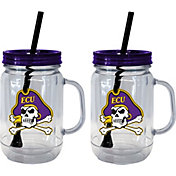 Boelter East Carolina Pirates 20oz Handled Straw Tumbler 2-Pack