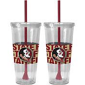 Boelter Florida State Seminoles Bold Sleeved 22oz Straw Tumbler 2-Pack