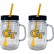 Boelter Georgia Tech Yellow Jackets 20oz Handled Straw Tumbler 2-Pack