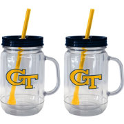 Boelter Georgia Tech Yellow Jackets 20oz Handled Straw Tumbler 2-Pack