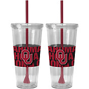 Boelter Oklahoma Sooners Bold Sleeved 22oz Straw Tumbler 2-Pack