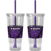 Boelter Kansas State Wildcats Bold Sleeved 22oz Straw Tumbler 2-Pack