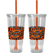 Boelter Oklahoma State Cowboys Bold Sleeved 22oz Straw Tumbler 2-Pack