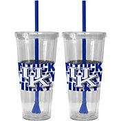Boelter Kentucky Wildcats Bold Sleeved 22oz Straw Tumbler 2-Pack