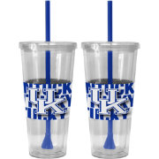Boelter Kentucky Wildcats Bold Sleeved 22oz Straw Tumbler 2-Pack