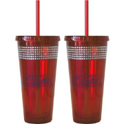 Boelter Ole Miss Rebels Bling 22oz Straw Tumbler 2-Pack