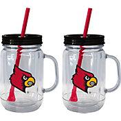 Boelter Louisville Cardinals 20oz Handled Straw Tumbler 2-Pack