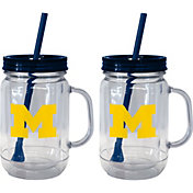 Boelter Michigan Wolverines 20oz Handled Straw Tumbler 2-Pack