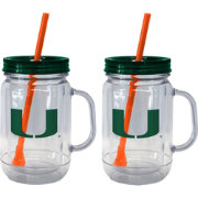 Boelter Miami Hurricanes 20oz Handled Straw Tumbler 2-Pack