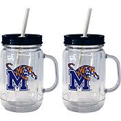 Boelter Memphis Tigers 20oz Handled Straw Tumbler 2-Pack