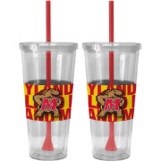Boelter Maryland Terrapins Bold Sleeved 22oz Straw Tumbler 2-Pack
