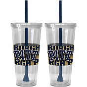 Boelter Pitt Panthers Bold Sleeved 22oz Straw Tumbler 2-Pack
