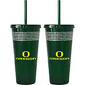 Boelter Oregon Ducks Bling 22oz Straw Tumbler 2-Pack
