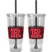 Boelter Rutgers Scarlet Knights Bold Sleeved 22oz Straw Tumbler 2-Pack