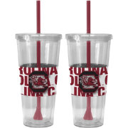 Boelter South Carolina Gamecocks Bold Sleeved 22oz Straw Tumbler 2-Pack
