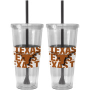 Boelter Texas Longhorns Bold Sleeved 22oz Straw Tumbler 2-Pack