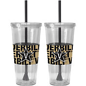Boelter Vanderbilt Commodores Bold Sleeved 22oz Straw Tumbler 2-Pack