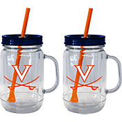 Boelter Virginia Cavaliers 20oz Handled Straw Tumbler 2-Pack