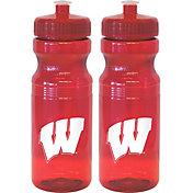 Boelter Wisconsin Badgers 24oz Squeeze Water Bottle 2-Pack