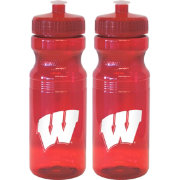 Boelter Wisconsin Badgers 24oz Squeeze Water Bottle 2-Pack