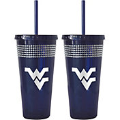 Boelter West Virginia Mountaineers Bling 22oz Straw Tumbler 2-Pack