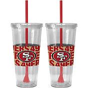 Boelter San Francisco 49ers Bold Sleeved 22oz Straw Tumbler 2-Pack