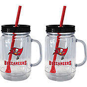 Boelter Tampa Bay Buccaneers 20oz Handled Straw Tumbler 2-Pack