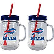 Boelter Buffalo Bills 20oz Handled Straw Tumbler 2-Pack