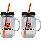 Boelter Cincinnati Bengals 20oz Handled Straw Tumbler 2-Pack