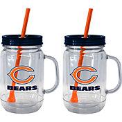 Boelter Chicago Bears 20oz Handled Straw Tumbler 2-Pack