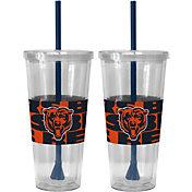 Boelter Chicago Bears Bold Sleeved 22oz Straw Tumbler 2-Pack