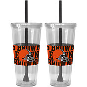 Boelter Cleveland Browns Bold Sleeved 22oz Straw Tumbler 2-Pack