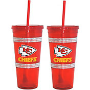 Boelter Kansas City Chiefs Bling 22oz Straw Tumbler 2-Pack