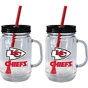 Boelter Kansas City Chiefs 20oz Handled Straw Tumbler 2-Pack