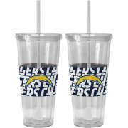 Boelter Los Angeles Chargers Bold Sleeved 22oz Straw Tumbler 2-Pack