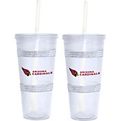 Boelter Arizona Cardinals Bling 22oz Straw Tumbler 2-Pack