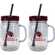 Boelter Arizona Cardinals 20oz Handled Straw Tumbler 2-Pack