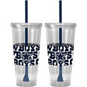Boelter Dallas Cowboys Bold Sleeved 22oz Straw Tumbler 2-Pack
