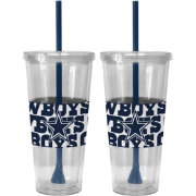 Boelter Dallas Cowboys Bold Sleeved 22oz Straw Tumbler 2-Pack