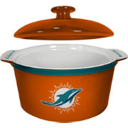 Boelter Miami Dolphins Game Time 2.4qt Oven Ceramic Bowl
