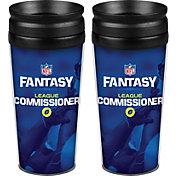 Boelter NFL Fantasy Football 14oz. League Commissioner Travel Tumbler 2-Pack