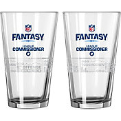 Boelter NFL Fantasy Football 16oz. League Commissioner Satin Etched Pint 2-Pack