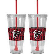 Boelter Atlanta Falcons Bold Sleeved 22oz Straw Tumbler 2-Pack
